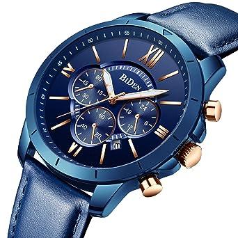 Reloj, Relojes Para Hombre,Especiales Deportivos Clásicos Lujo Correa De Piel Resistente Cuarzo Analógico Cronógrafo: Amazon.es: Relojes
