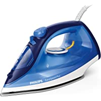 Philips EasySpeed Plus Steam Iron with Ceramic Soleplate, 150g Steam Boost & Built-in Calc-Clean Slider, 2400W, Blue, GC2145/29