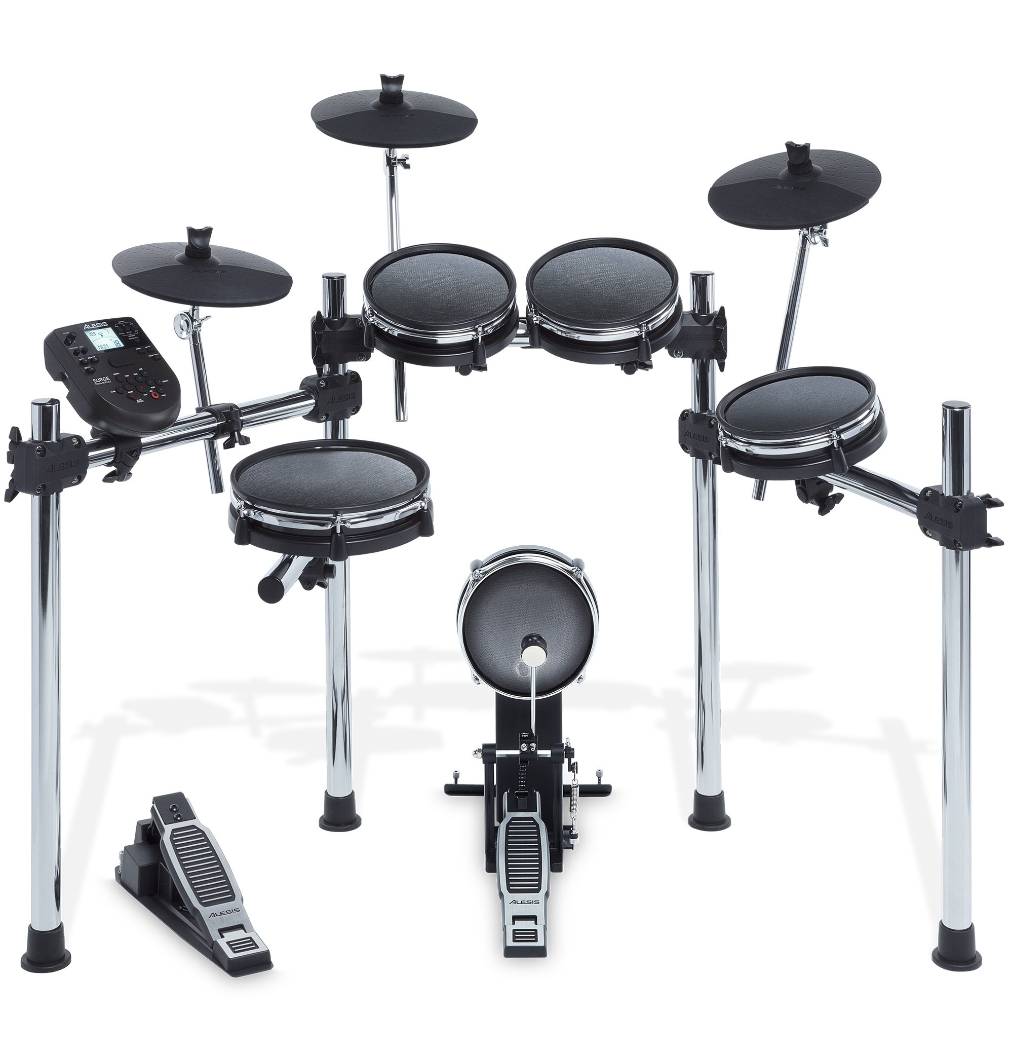Alesis Surge Mesh Kit | Eight-Piece Electronic Drum Kit with Mesh Heads (10'' Snare, 8'' Toms, 8'' Kick, 10'' Cymbals)