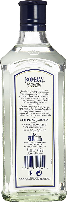 Bombay Ginebra - 70 cl: Amazon.es: Alimentación y bebidas