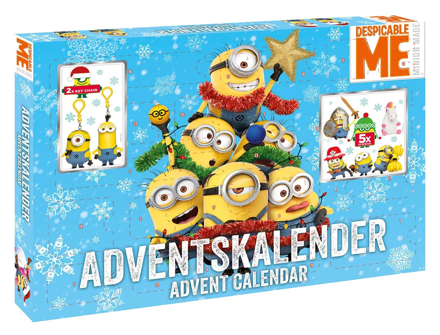 Craze 57422 Minions Adventskalender, Bunt Craze_57422