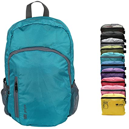 41e84067f Image Unavailable. Image not available for. Color: Golyte Lightweight  Packable Travel Hiking Backpack Daypack Aqua Blue for Men Women Unisex