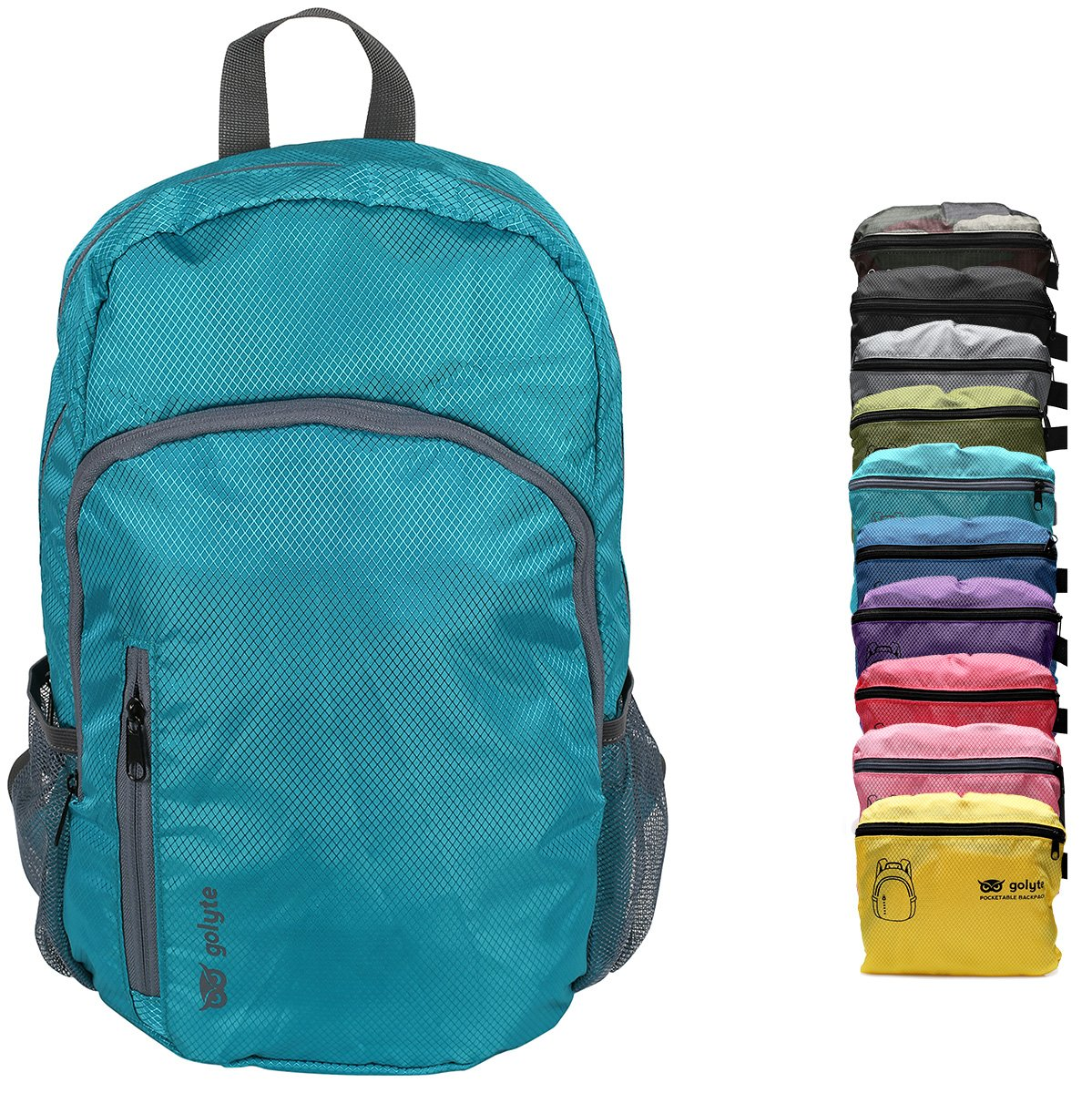 Golyte Lightweight Packable Travel Hiking Backpack Daypack Aqua Blue for Men Women Unisex by Golyte