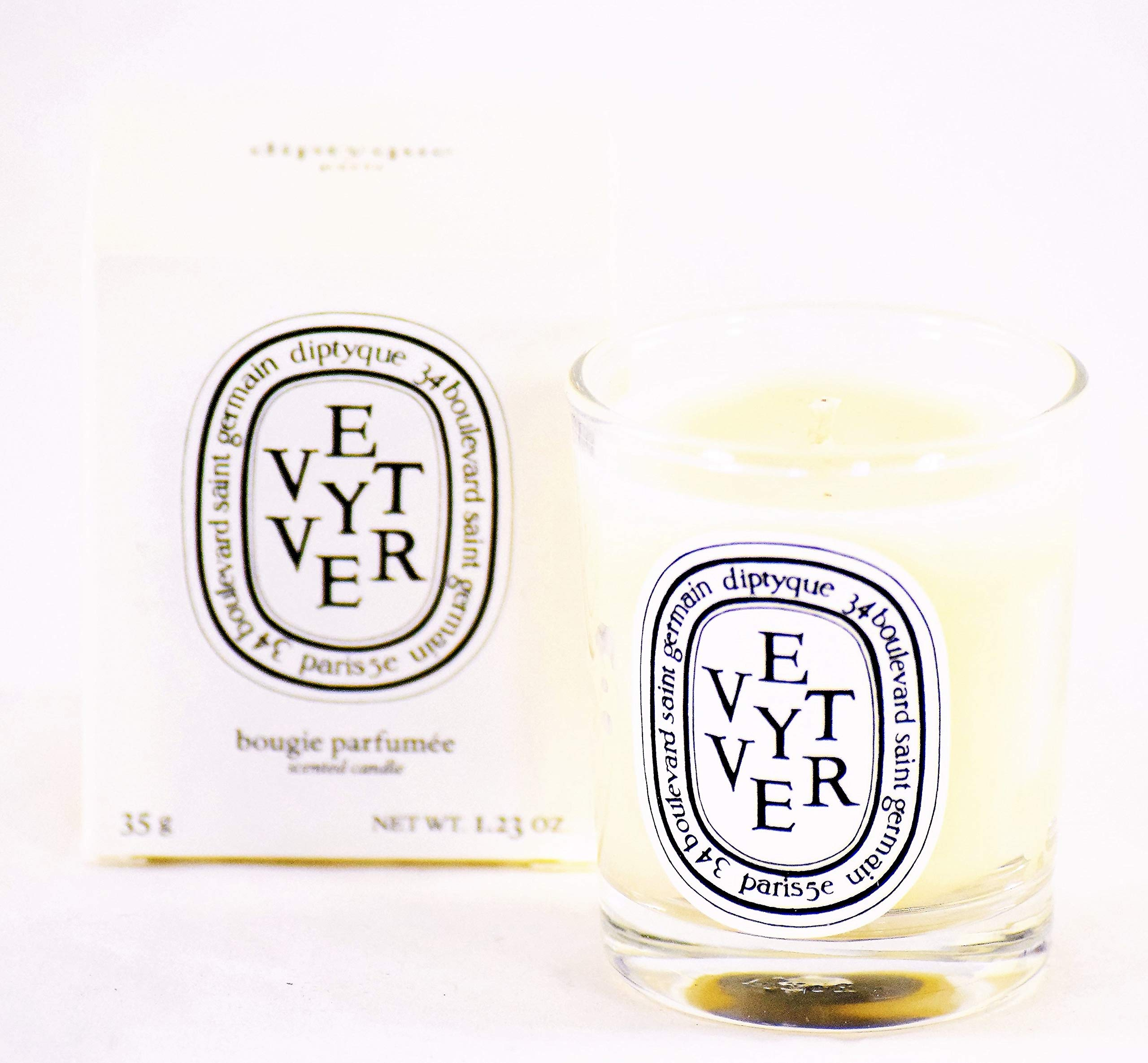Diptyque Vétyver Mini Scented Candle - 1.23 oz (35 Grams) Travel Size