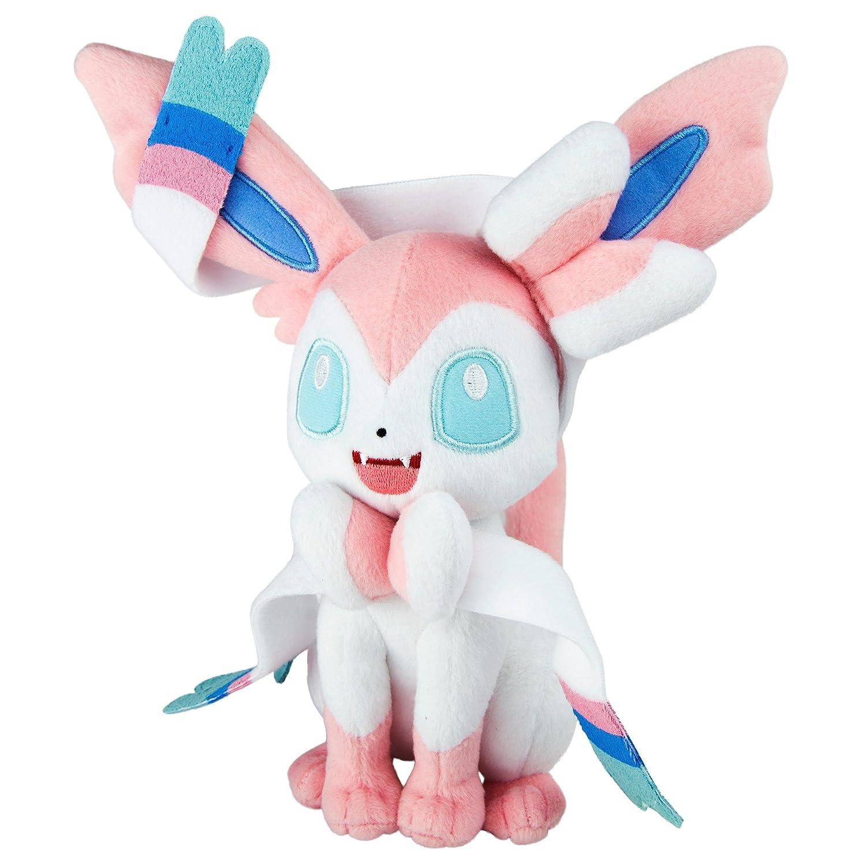 TOMY T19067L – Pokémon Sylveon Peluche dans Boîte Fenêtre, Peluche de Haute qualité, env. 20 cm pour Jouer et Collectionner pour Enfants à partir DE 3 Ans