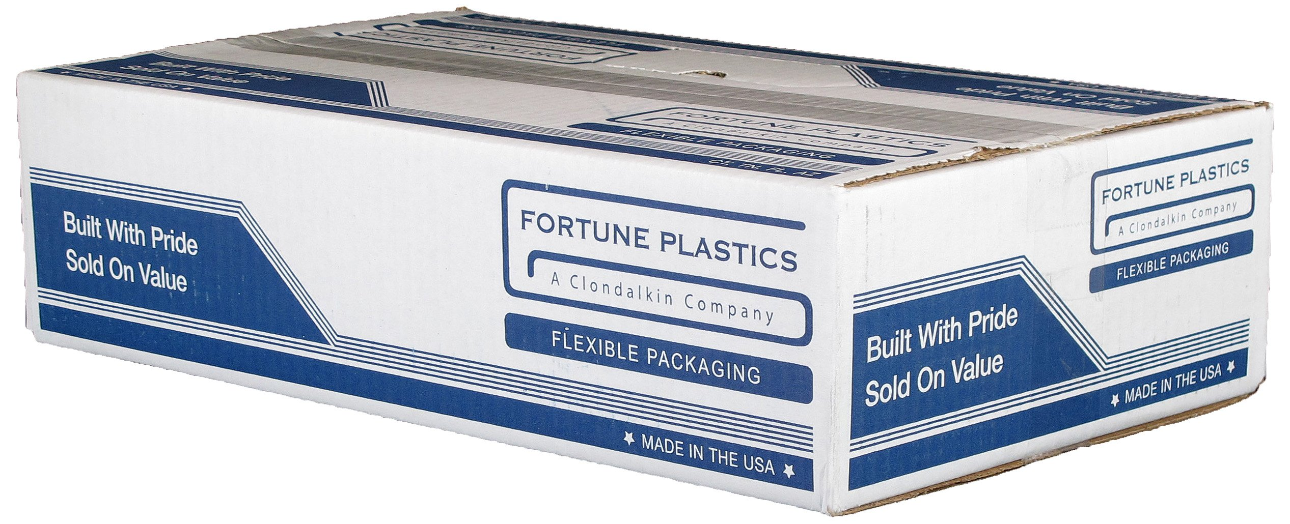 Fortune Plastics Hi D Tuff Folded HDPE 33 Gallon Waste Can Liner, Star Seal, Natural , 0.62 Mil, 40'' x 33'' (Case of 250)