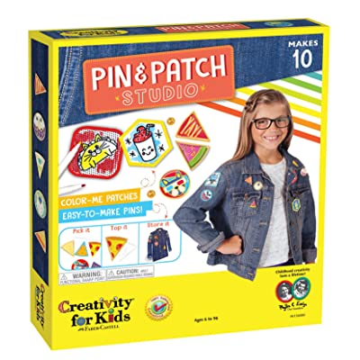 Creativity for Kids Pin & Patch Studio, Design Your Own Iron-On Patches and Pins Craft Kit: Toys & Games