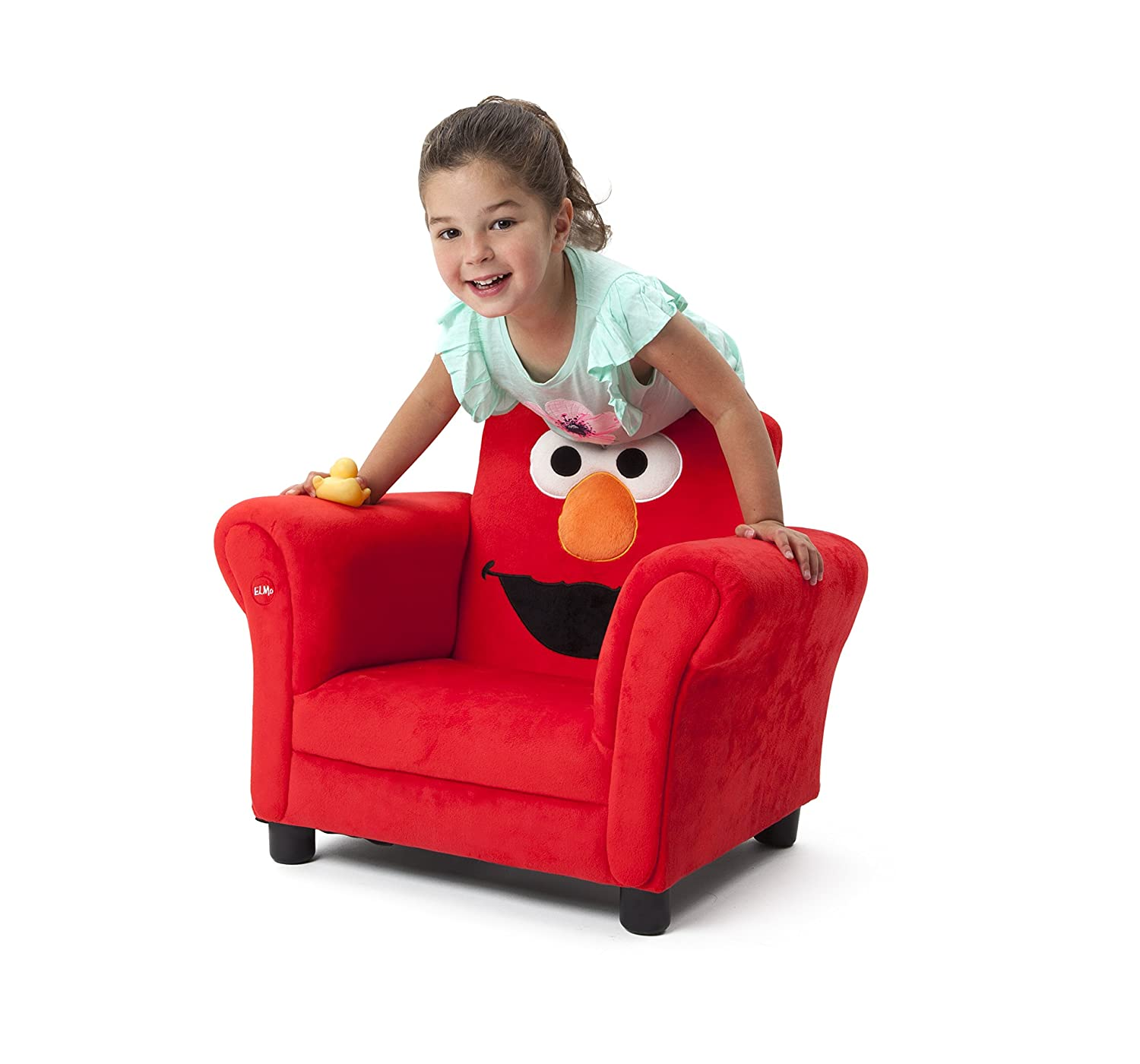 Amazon.com: Delta Children Upholstered Chair W/ Sound, Elmo Sesame Street:  Baby