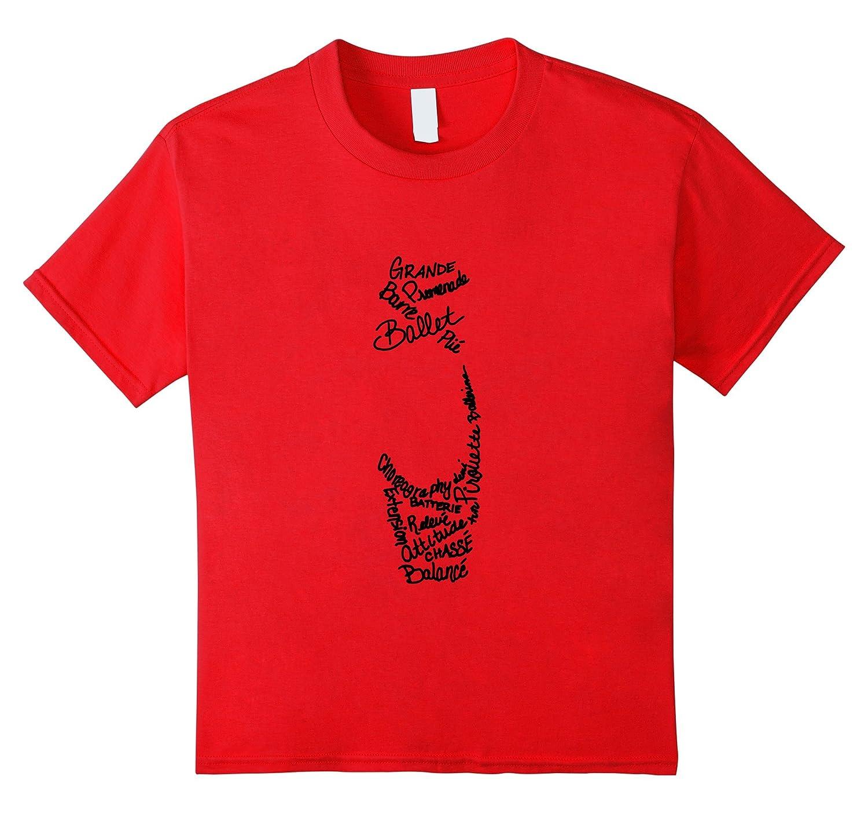 Womens Ballet Pointe Terms T Shirt-Awarplus