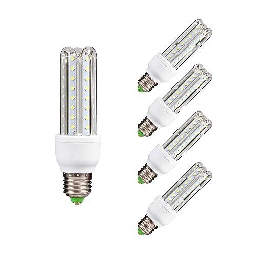 Lámpara Bombilla Led 3U Tubo E27 6500 K Luz fría 7 W