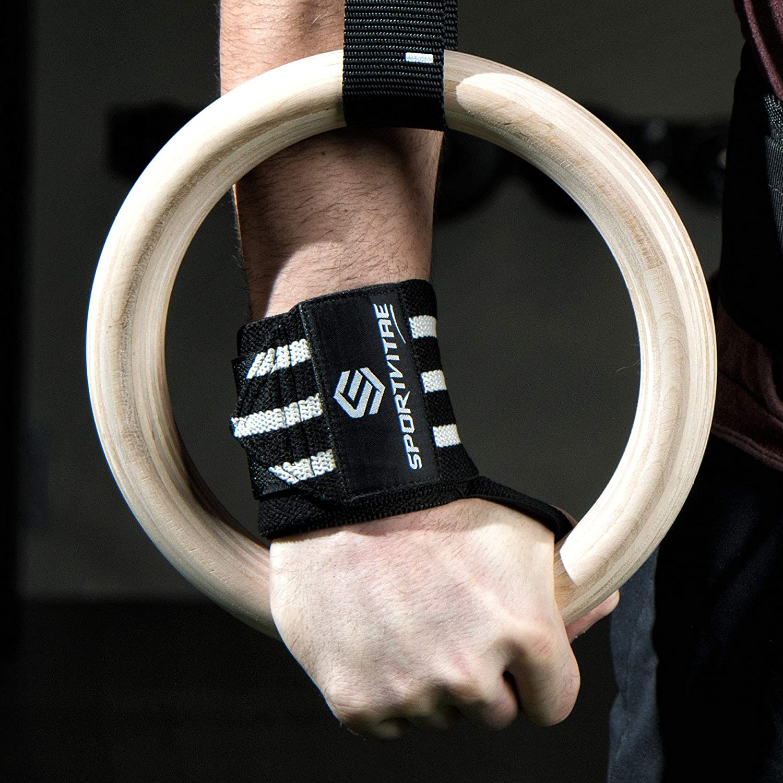 Heavy Duty Crossfit Wrist Wraps Cinghie Sollevamento Pesi Fasce da Polso 18 | Polsiere Fitness Polsini per Palestra Uomo e Donna 45 cm Supporto Polsi e Mani