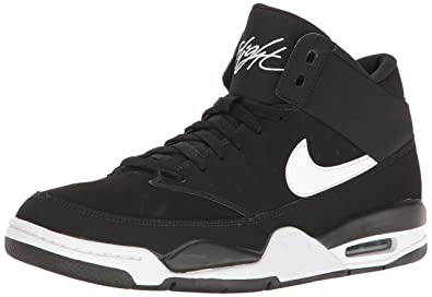new product 9da7e ff719 Nike Men s Air Flight Classic Basketball Shoe, Black White, ...