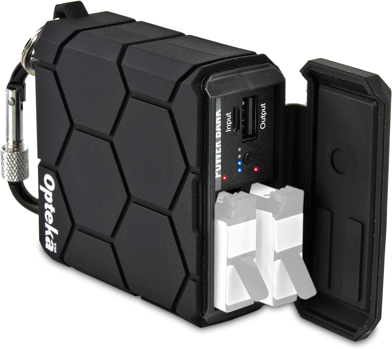 401 Li-ioncs Cargador Doble Para Pro HERO 4//2 Go PC 1600mAh AHDBT SPUK Batería