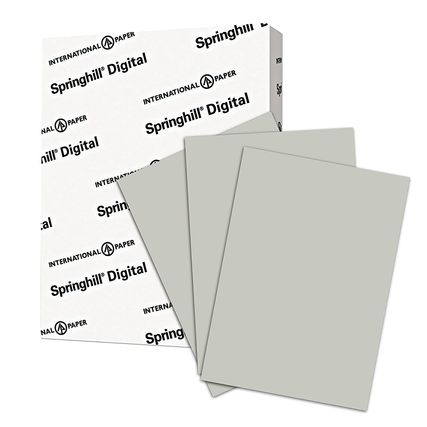 Springhill, Digital Vellum Bristol Cover Gray, 67lb, Letter, 8.5 x 11, 250 Sheets / 1 Ream, (066000R) Made In The USA International Paper (Office)