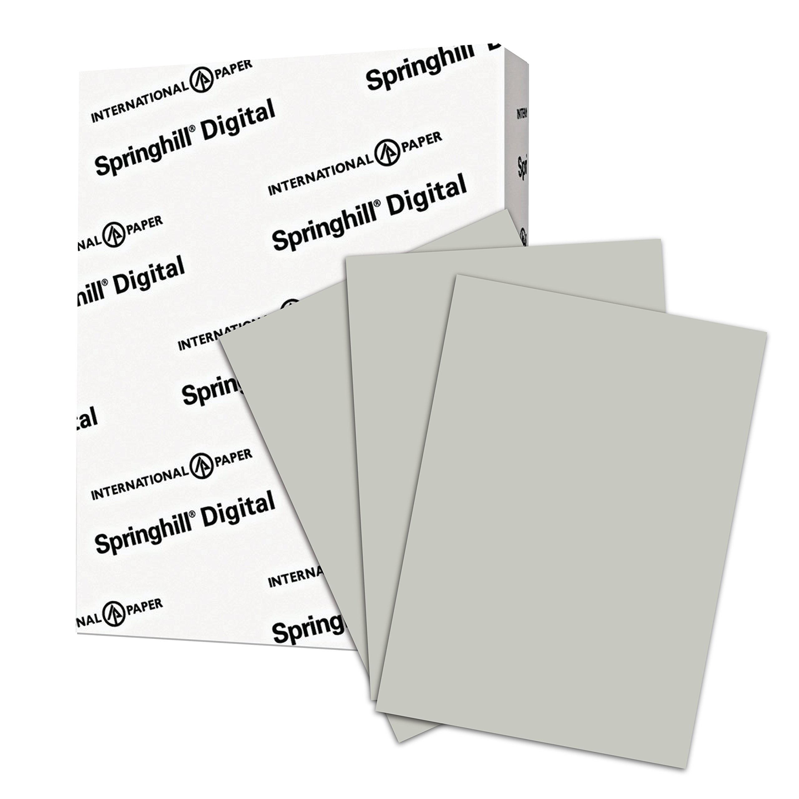 Springhill Colored Paper, Cardstock Paper, Gray Paper, 67lb, 147gsm, 8.5 x 11, 1 Ream / 250 Sheets - Vellum Card Stock, Thick Paper (066000R)