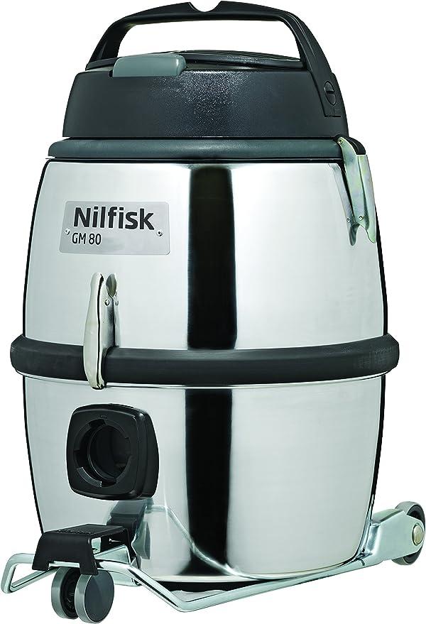 Nilfisk GM80 Aspirador de trineo, 220-240 V, 780 W, 12.25 litros, 75 Decibelios, Aluminio, Gris metalizado: Amazon.es: Hogar