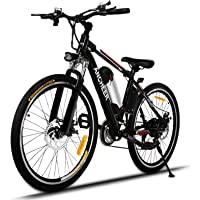 ANCHEER Power Plus Electric Mountain Bike, 26'' Electric Bike with Removable 36V 8Ah Lithium-Ion Battery, Shimano 21 Speed Shifter