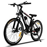 ANCHEER Electric Mountain Bike with Removable Lithium-Ion Battery, Battery Charger