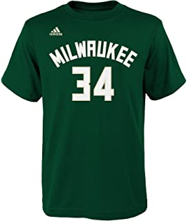 Giannis Antetokounmpo Milwaukee Bucks #34 NBA Youth Player Name & Number T-Shirt