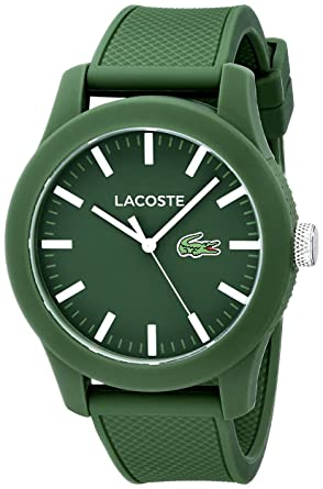lacoste men s 2010763 lacoste 12 12 green resin watch lacoste men s 2010763 lacoste 12 12 green resin watch silicone band