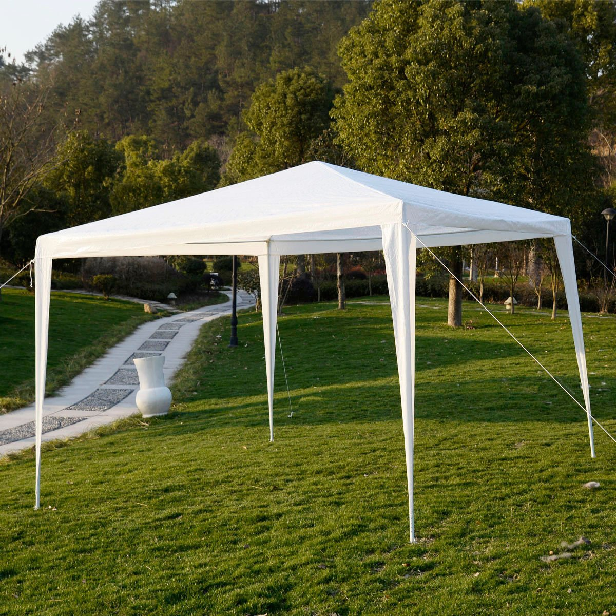 Amazon.com  10u0027x10u0027Outdoor Canopy Party Wedding Tent Garden Gazebo Pavilion Cater Events (White)  Garden u0026 Outdoor & Amazon.com : 10u0027x10u0027Outdoor Canopy Party Wedding Tent Garden ...