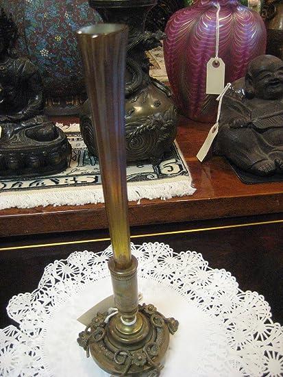 Amazon Tiffany Co Bronze And Glass Vase Home Kitchen