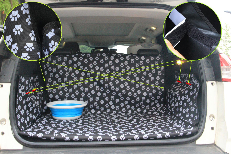 Waschbares Hundezubeh/ör Wasserdichte Bodenmatte f/ür Hunde Katzen Oxford Auto SUV Sitzbezug Pet Dog Trunk Cargo Liner