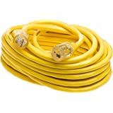 Yellow Jacket 2991 20-Amp Generator Cord with T-Blade 5-20 Lighted Ends, 50-Feet