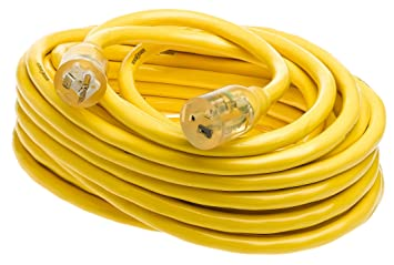 Yellow Jacket 2991 SJTW 10/3 Extension Cord w/Lighted T-Blade, 50 ...