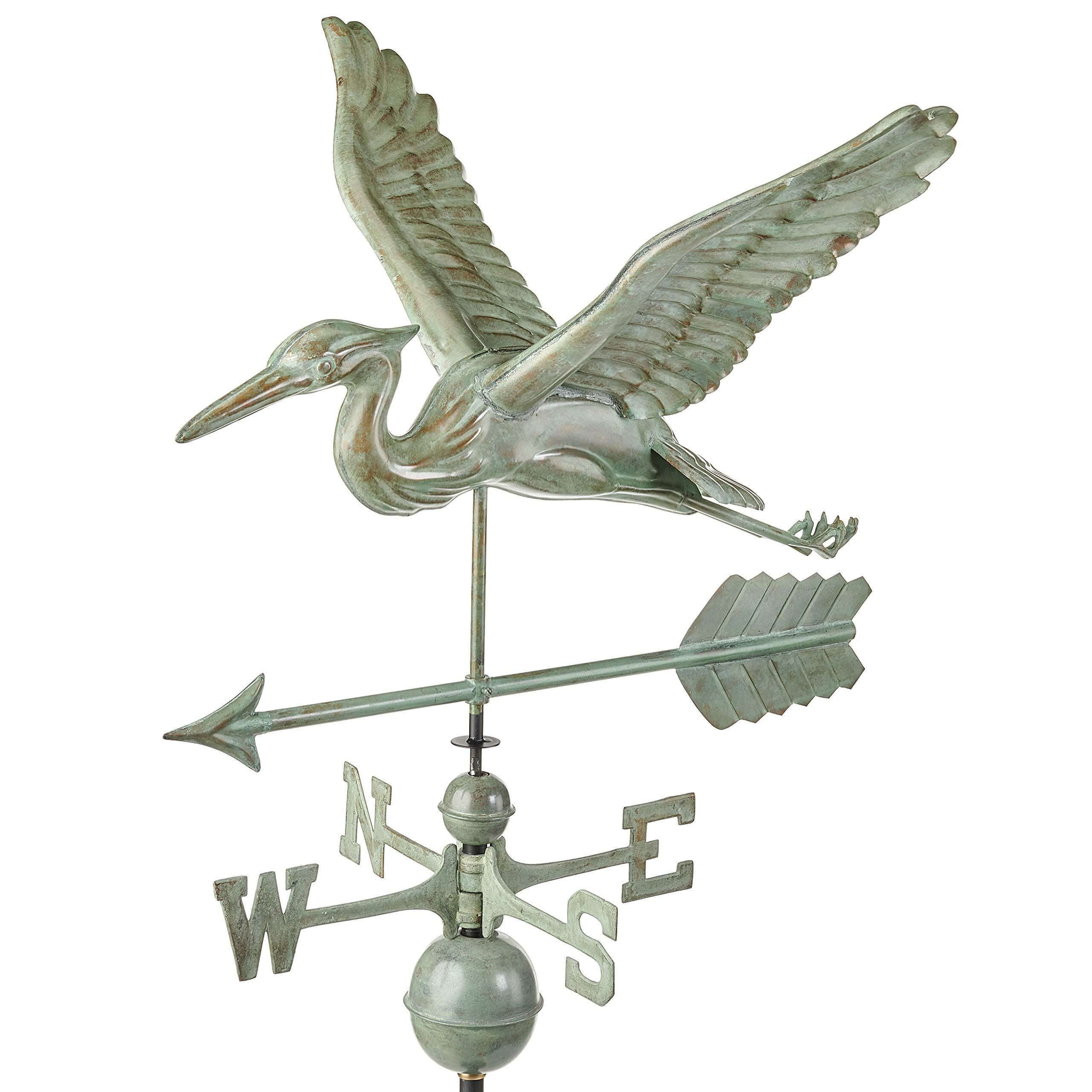 Good Directions, Inc. 9606V1A Blue Heron Arrow Weathervane, Verde