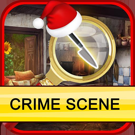 Christmas Crime Scene Free Hidden Object (Fabulous Christmas Trees)