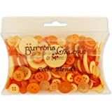 Buttons Galore CB100 Color Blend Buttons, 3-Ounce, Tangerine Tango, 3 Shades of Orange