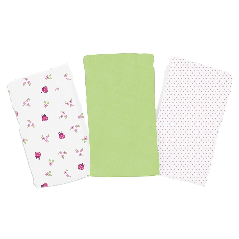 SwaddleMe 3-Pack Muslin Blanket, Ladybug Garden Summer Infant 72804