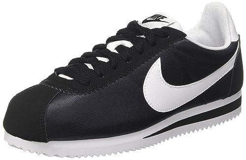 NIKE Classic Cortez Nylon Sneaker Scarpe Tempo Libero da Donna Nere 749864 007