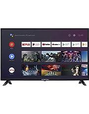 $129 » Sceptre Android TV A322BV-SRC 32-inch Smart LED HD TV Google Assistant Chromecast Bluetooth Remote, Machine Black 2020