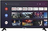 Sceptre Android TV A322BV-SRC 32-inch Smart LED HD TV Google Assistant Chromecast Bluetooth Remote, Machine Black 2020