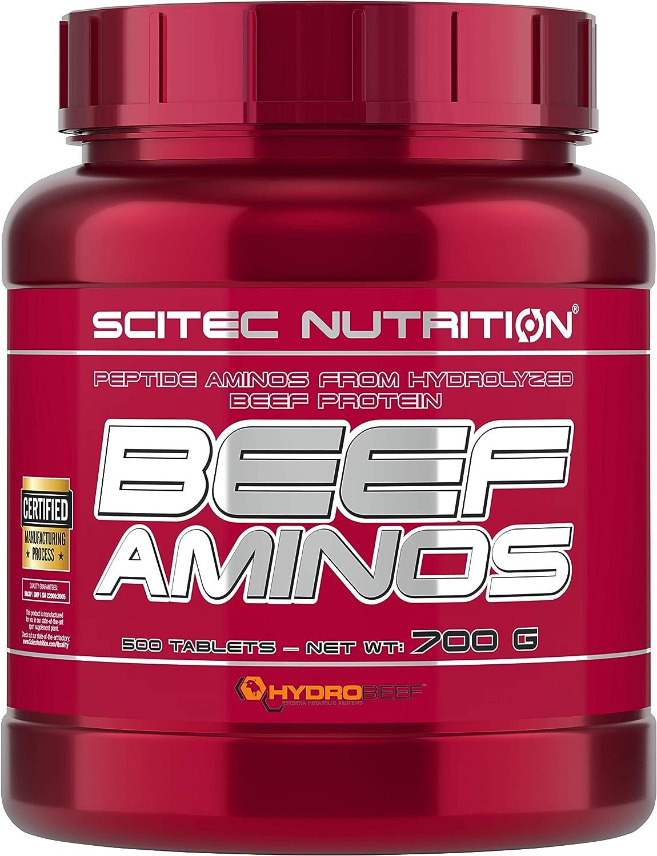 Scitec Beef Aminos Paquete de x 500 Tabletas Péptidos de Proteína de Carne Hidrolizada Amino ácidos Crecimiento Muscular