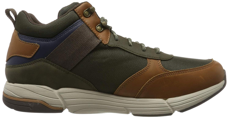 Skechers Herren Metco Klassische Stiefel (Brown Leather W/Mesh Br Ol)