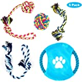 Dog Rope Toys for Small to Medium Dogs Overfly Dog Puppy Teething Toy Chew Rope Tug( Set of 5)