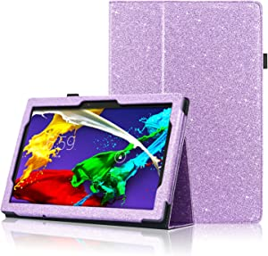 ACdream Lenovo Tab 2 A10 & Lenovo Tab3 10 Business Case, Stand Leather Cover Case for Lenovo Tab 2 A10-70 & Lenovo Tab3 10 Business Case with auto Wake Sleep Feature, (Purple Star of Paris)