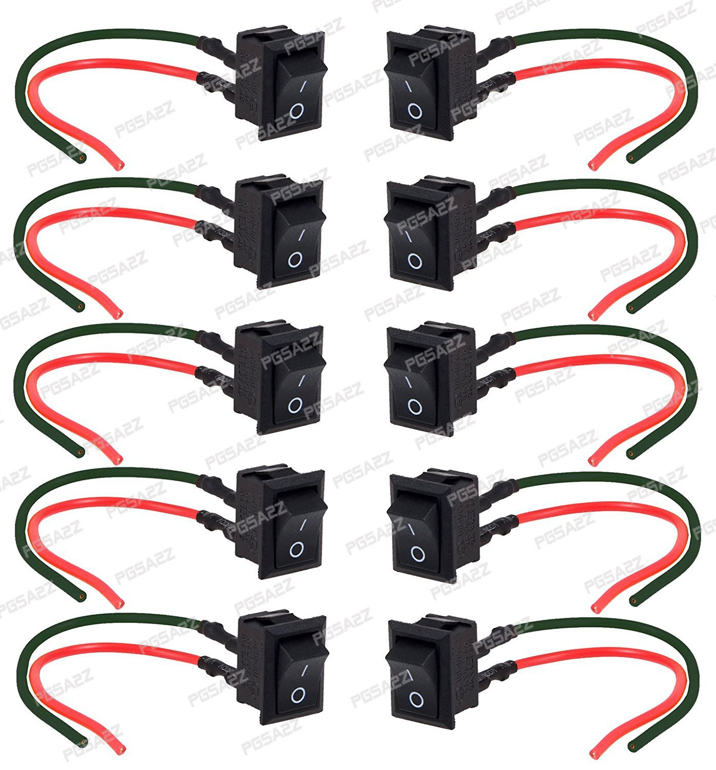 Pgsa2z 2 Pin On Off Spst Mini Rocker Switch With Attached Wires Switch Pack Of 10 Amazon In Computers Accessories