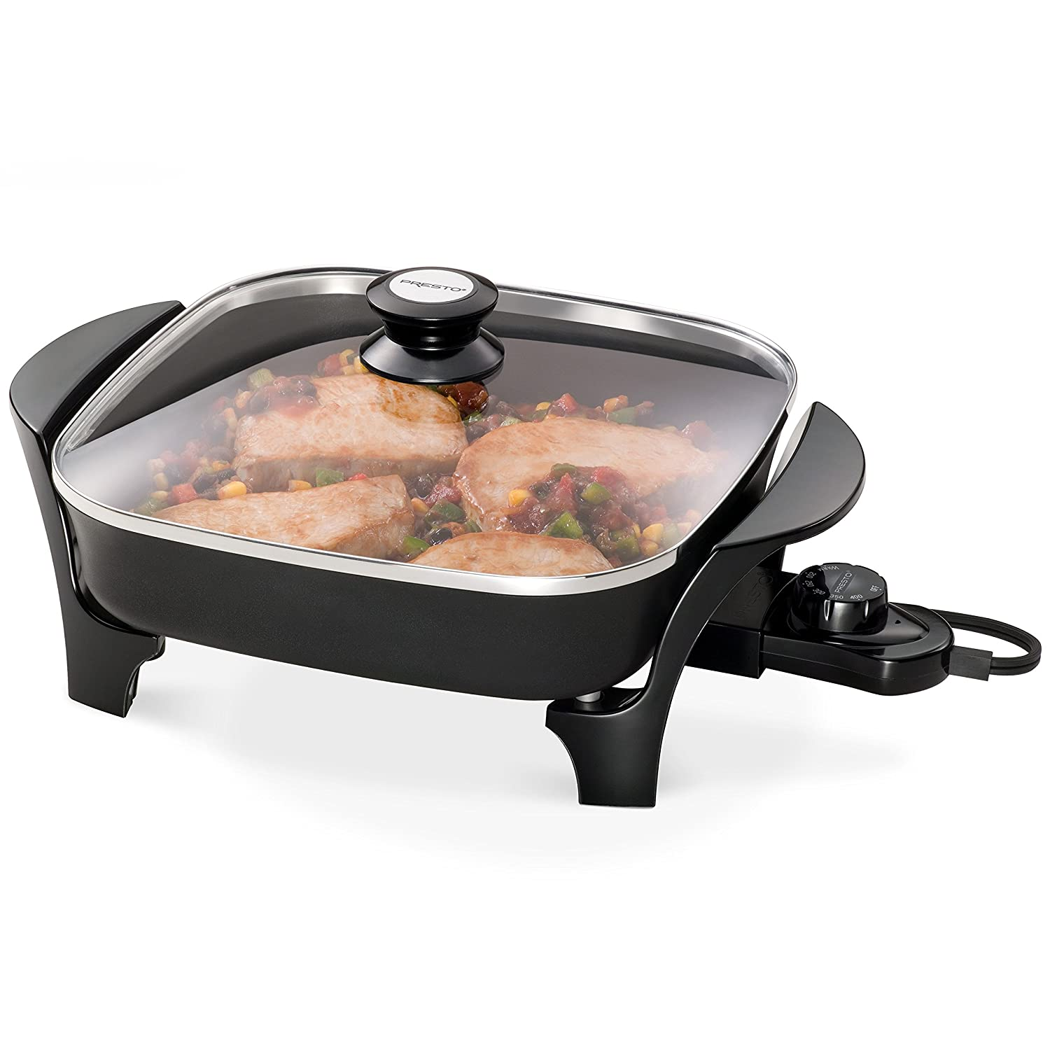 Presto 06626 11 inch Electric Skillet w//glass lid