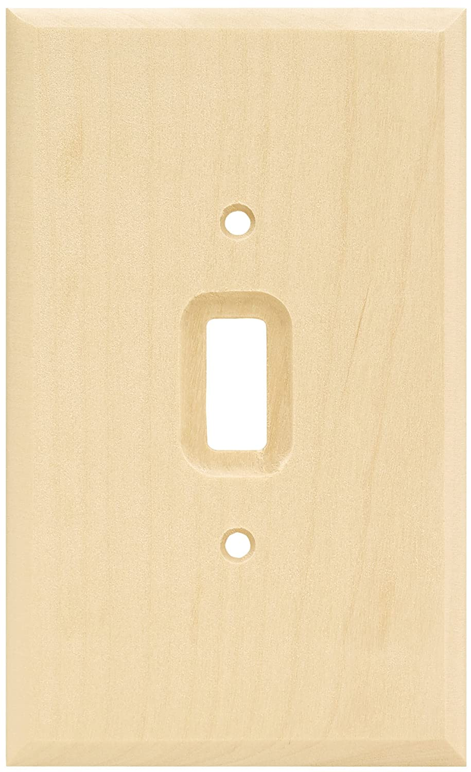 Brainerd 64673 Wood Square Single Toggle Switch Wall Plate/Switch ...