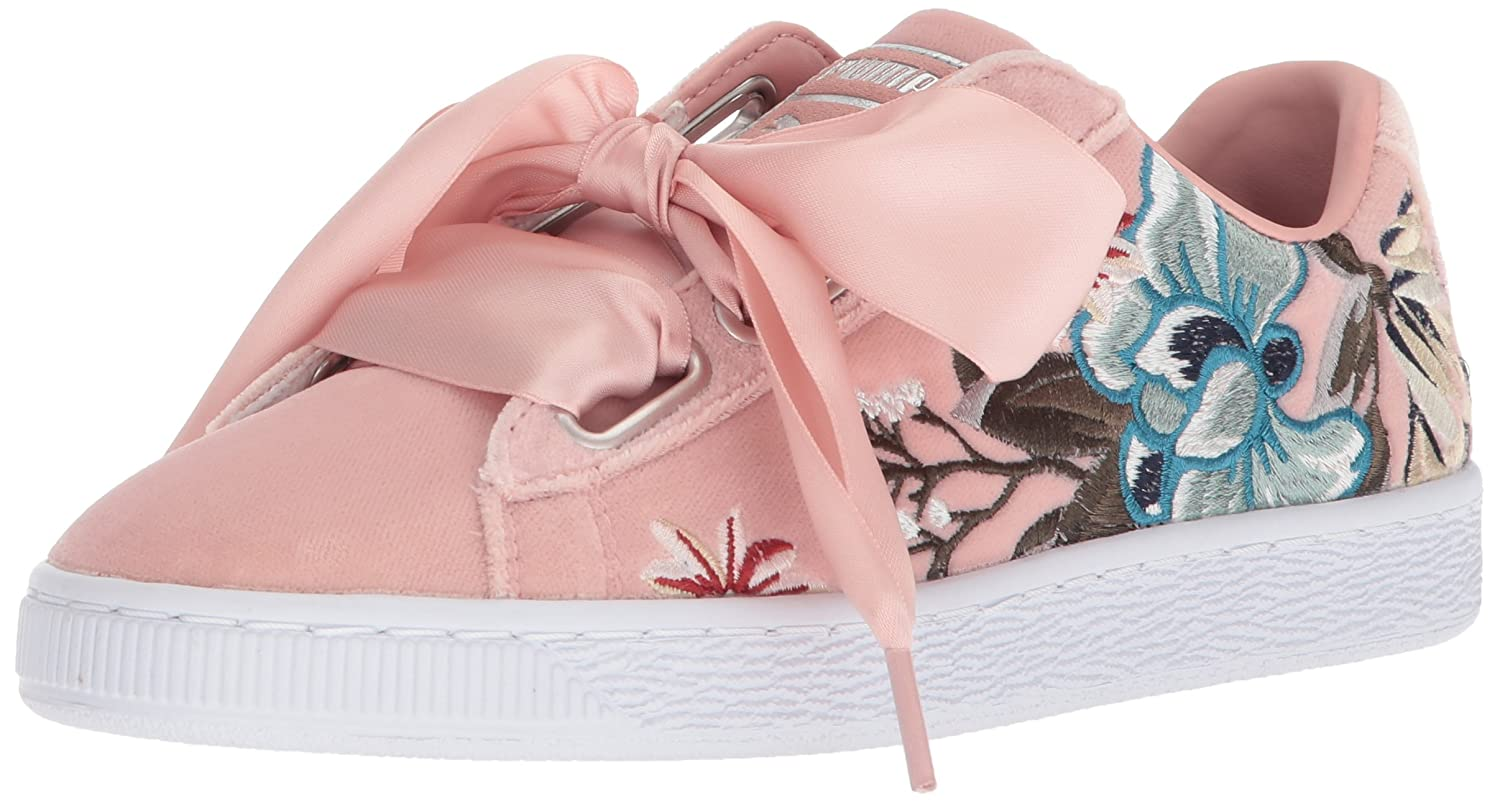 PUMA Women's Basket Heart Hyper Embossed Wn Sneaker B072MY3K7P 8.5 B(M) US|Peach Beige