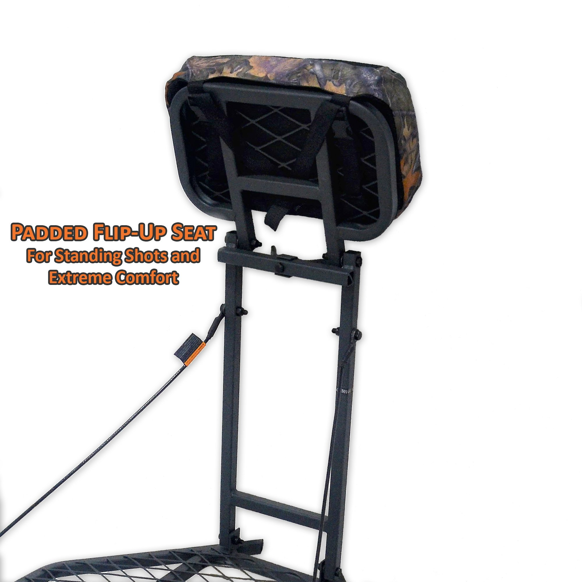 "Copper Ridge Outdoors Tree Stand - Hang On Deer Stand, Large 24"" x 32"" Foot Platform, Flip Up Padded Seat, Steel Construction, 300 lb. Weight Capacity, Treestand for Deer Hunting by Copper Ridge Outdoors (Image #3)"