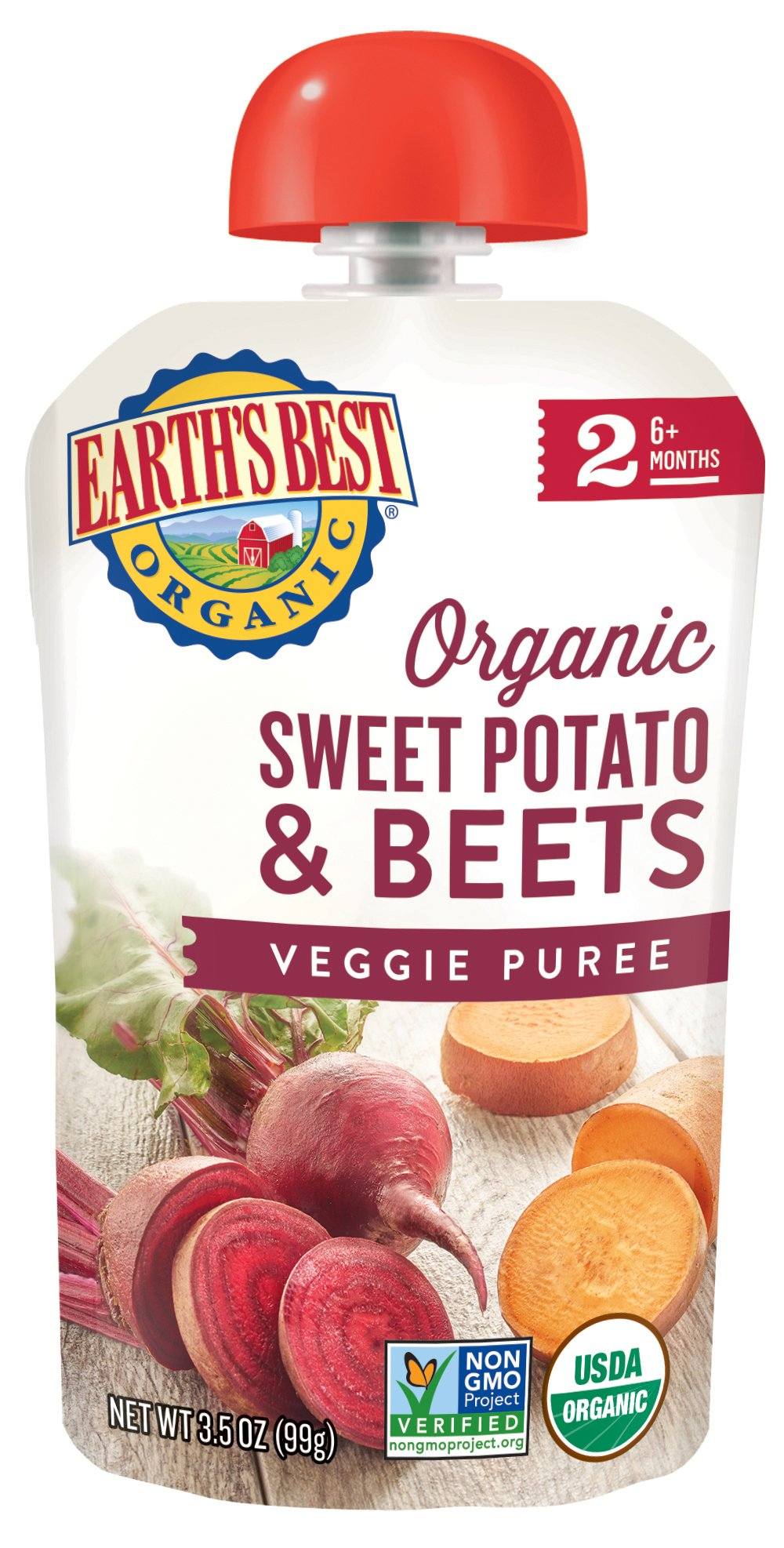 Earth's Best Organic Stage 2, Sweet Potato & Beets, 3.5 Ounce (Pack of 12) (Packaging May Vary)