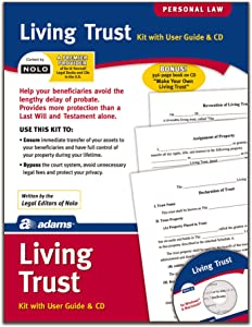 Adams Living Trust Kit, Forms and Instructions, Includes CD (K305)