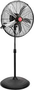 "OEM TOOLS 20 Inch Oscillating Pedestal, New Model Commercial Fan, 20"", Black"