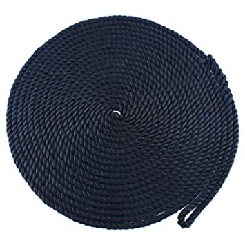 White 1//2 inch 15 feet 3 Strand Twisted Nylon Rope Dockline Multipurpose Utility