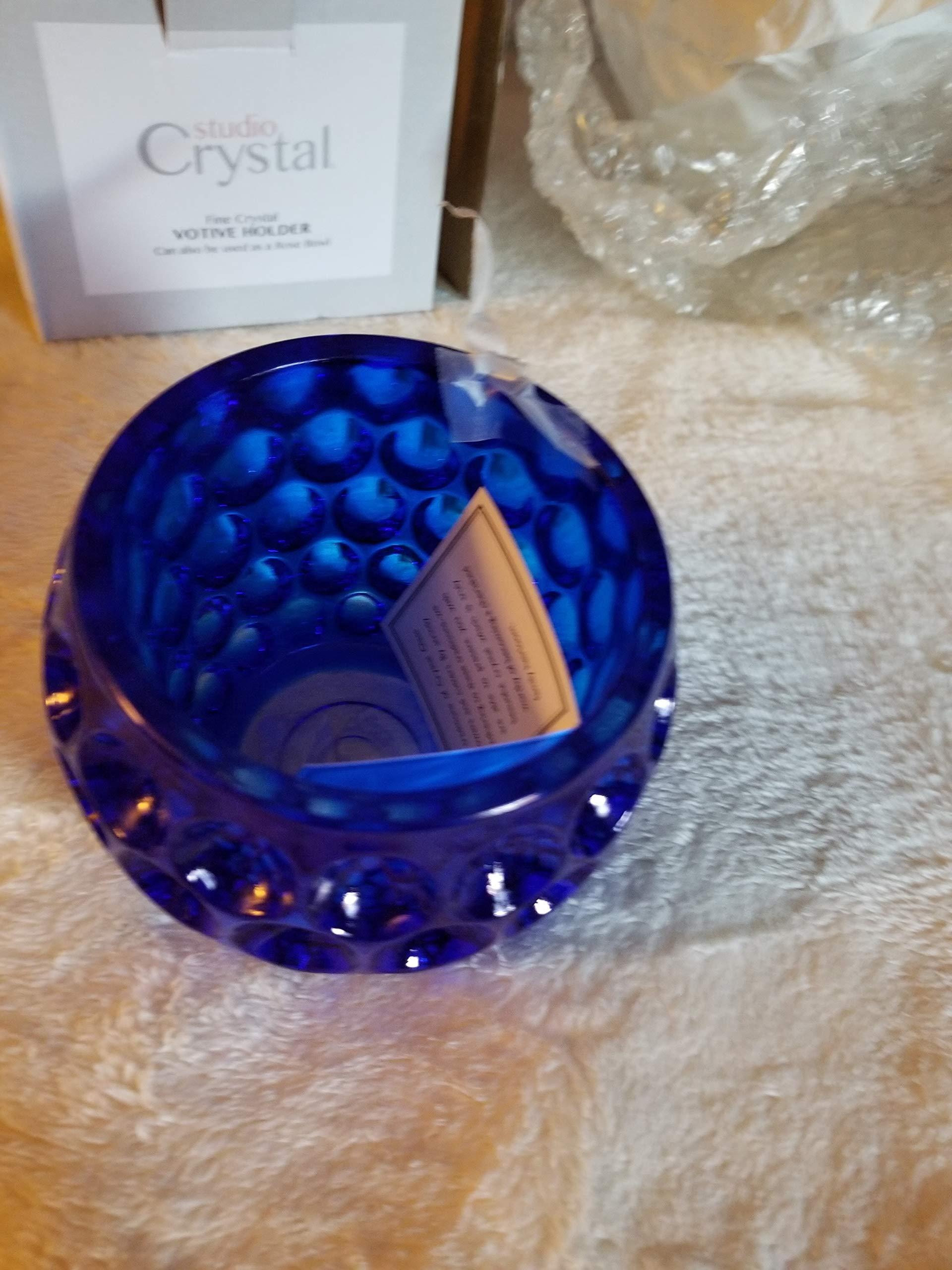 StudioSilversmiths 44276 Circle Design Votive Bowl - Blue by StudioSilversmiths